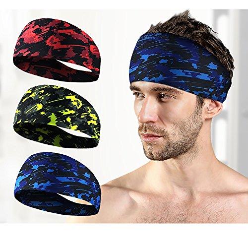 Doubleer Running Yoga Sports Sweatband Gym Fitness Breathable Headband Hairband