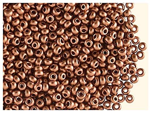 20gr (ca. 1350 stk) 9/0 Tschechische Runde Glasperlen, Preciosa-Rocailles, Rundloch, Bronze Metallic Matt (Vintage Copper) -