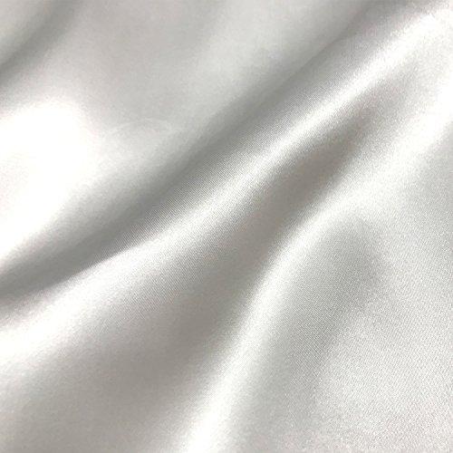 Stephen WU 5yard Satin Stoff Größe: 59in180in Haptik Weich Für Hochzeit Kleid Blush Kleid Satin Kleid weiß (Durch Versenden China Zu Amazon)