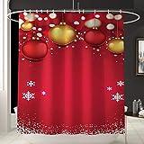 Weihnachten Badezimmer Dekorationen, Santa Drucken Teppich Toilette Badezimmer Matte und Dusche Vorhang Vierteiliges Set