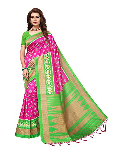 Mrinalika Fashion art silk saree With Blouse Piece (multicolour saree_Free Size)