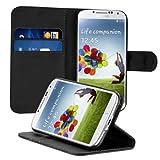 kwmobile Samsung Galaxy S4 Hülle - Kunstleder Wallet Case für Samsung Galaxy S4 mit Kartenfächern und Stand