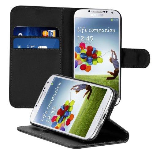 kwmobile 13865.01 Funda para teléfono móvil Funda Cartera Negro - Fundas para teléfonos móviles (Funda Cartera, Samsung, Galaxy S4, Negro)