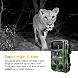 """Toguard Trail Camera 14MP 1080P Infrared Night Vision Game Camera Motion Activated Wildlife Hunting Cam 120° Detection with 0.3s Trigger Speed 2.4"""" LCD Display IP56 Waterproof Bild 2"""
