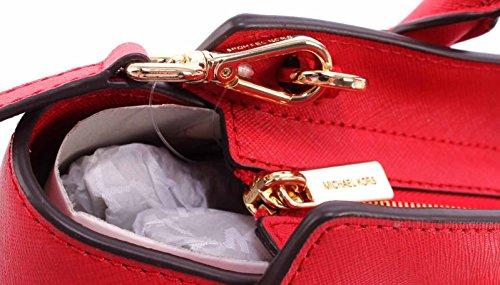Michael Kors - Selma Saffiano Leather Medium Satchel, Borsa con Maniglia Donna Rosso