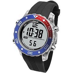 Pyle PSNKW30BK Montre de sport numérique étanche pour natation Hommes Femmes Sports aquatiques Fitness Tracker, Chronomètre, Mince