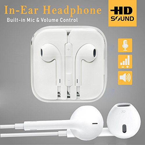 Mobile Gabbar Headphones With Mic For iPhone, Apple, Iphone 4 / 4s / 5 / 5s / 6 / 6s iPad With 3.5mm Jack With Mic And Volume Button Earphone With Mic  available at amazon for Rs.111