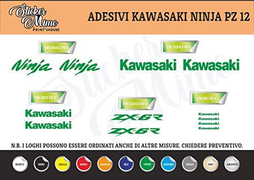 Generico Kawasaki Ninja Adesivi Stickers Moto Motorbike Casco (Verde)
