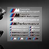 Appson Sticker Motorsport, Farbe: weiss;, komplettes Aufkleberset für das Armaturenbrett