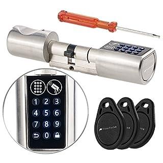 VisorTech Türzylinder: Elektronischer Tür-Schließzylinder, Transponder-Schlüssel, Zahlen-Code (Elektronisches Türschloss)