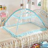 Moskitonetz Bett Baldachin Pop Up Faltbare Mückennetz für Kinderbetten (B, Grün)