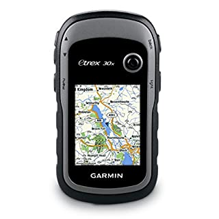 Garmin eTrex 30x Outdoor Handheld GPS Unit with TopoActive Western Europe Maps and 3-axis compass - Black/Grey