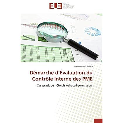 Démarche d évaluation du contrôle interne des pme