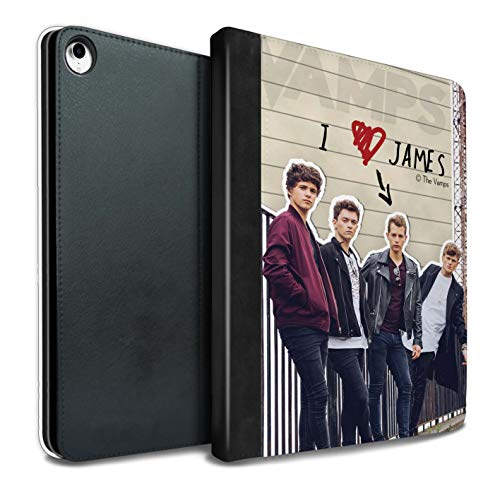 The Vamps PU Pelle Custodia/Cover/Caso Libro per iPad PRO 10.5 (2017) Tablet/James Diario Segreto Disegno