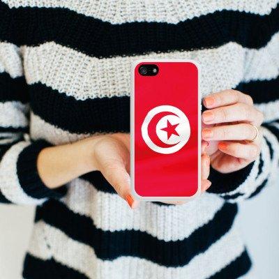 Apple iPhone 6 Housse Étui Silicone Coque Protection Tunisie Drapeau Drapeau Housse en silicone blanc