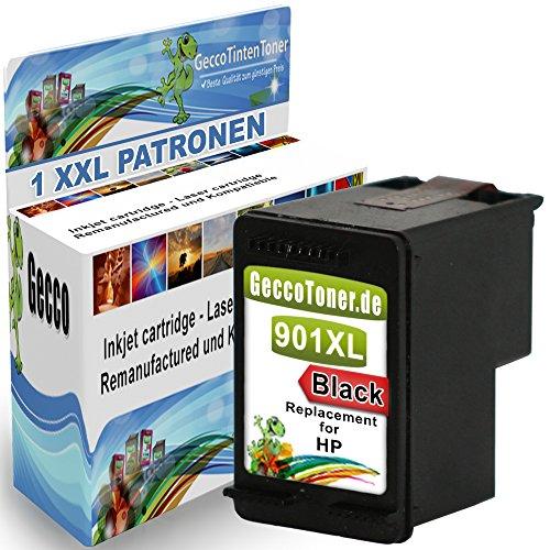 1x Druckerpatrone Ersatz für Hp 1x 901 XL Original alaskaprint Tinte black...