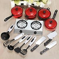 Kit de 13pcs juguete de cocina cuisiniãfâ ¨ re cazo olla cuchillo niño enducation by dasuke