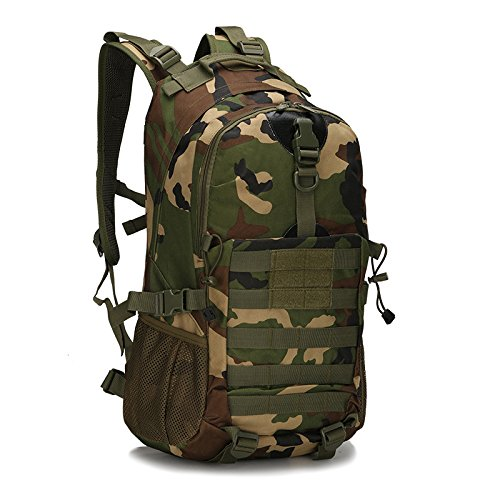 Il camuffamento Double borsa a tracolla per tempo libero outdoor fan zaino multi-funzione zaino 48*32*16cm, tre sabbia camouflage Army green