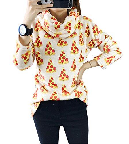 DaBag Felpe Donna Invernali Ragazza Flano Sweater Manica Lunga T-shirt Moda Top Spesso Pullover Eleganti Maglia Classica Abbigliamento Casual Sweatshirts Fasciante Maglie R12
