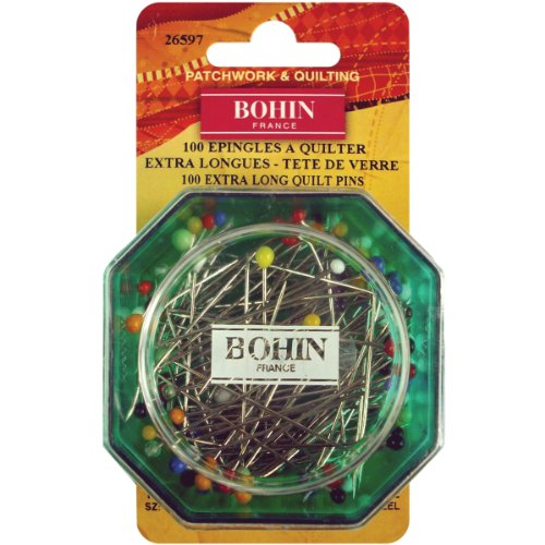 Bohin Glas Kopf Quilting Pins, Gr. 30(100Stück) -