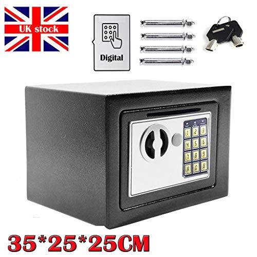 Caja de Seguridad Digital para Llaves con Ranura para Montar en la Pared, 35 x 25 x 25 cm, 16 L, Caja...