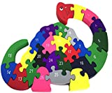 Vivir™ Wooden Puzzle Games For Kids With A-Z Alphabet and Numbers ( Turtle Jigsaw Puzzles For Kids )