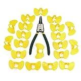 ILS-ILS - 20 pezzi Occhi di pollo, No Pin Bolt Chicken Glasses Occhiali anti-beccacce Polli attrezzature agricole con pinza inclusa