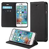 ECENCE Apple iPhone 6 6S (4,7) Handy-Tasche Flip Cover Book Case Schutz-Hülle Etui Wallet Schale Schwarz 14020306