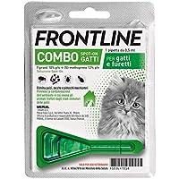 Frontline Combo, 1 pipetta, Antiparassitario per gatti, gattini e furetti di Lunga durata, Protegge da pulci, zecche…