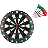 "Safety Dart And Dart Board Set ,CAMTOA 16 "" Rubber Dart Board -Professional Home Dartboard Kit With 6 Soft Tip Darts, Perfect For Adults And Children, Leisure Sport For Office/Home"