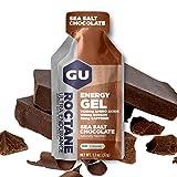GU Energy Gel Energizante de Chocolate con Sal Marina - Paquete de 24 x 32 gr - Total: 768 gr