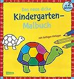 Das neue, dicke Kindergarten-Malbuch: Mit farbigen Vorlagen und lustiger Fehlersuche: Malen ab 2 Jahren
