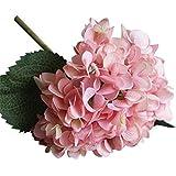 WINOMO Flores de simulación Plantas artificiales de hortensia para el hogar de la boda decorativa (rosa)