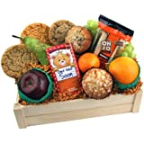 Get Well Soon Fruit Basket with Cookies Muffins and Healthy Banana Cake - SGS-041 Includes Oranges Apples Grapes and Pears