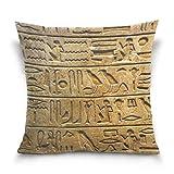 Suabo egiziano murale pittura stampa modello velluto di cotone decorativo tiro federa cuscino 50,8x 50,8cm, 50% in cotone, 50% poliestere, Design 2, 45 x 45 cm