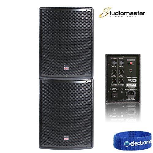 pair-of-studiomaster-drive-15-sa-subwoofer-low-bass-bins-mobile-dj-disco-pa