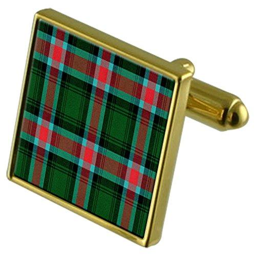 Select Gifts US-tartan Georgia Gold Manschettenknöpfe