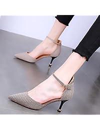 KPHY Unico Fibbie Solo Scarpe Primavera Piccole Scarpe Di Cuoio Elegante Signore Scarpe Con Tacchi Alti Superficiale Bocca Scarpe…