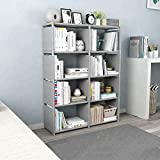 Sterling Book Shelf for Home Library, Book Stand, Book Rack for Study Room, Book Stand Shelf 8 Layer Grey Color 126 x 80 x 30