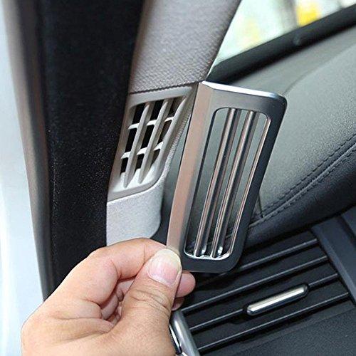 Interni auto styling ABS cromato opaco a pilastro AC Vent cover Trim 3D adesivi accessori ricambi decorazioni 2pezzo