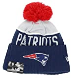 New Era New England Patriots Beanie Nfl Sport Knit 2015 Navy / Grey / Red - One-Size