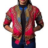 c22c003bcf Chaqueta Casual Corta☀ EUZeo☀ Estampada Africana de la Moda de Manga Larga  de Las Mujeres Camiseta Blusa Mujer Elegantes con Manga Larga Vintage ...