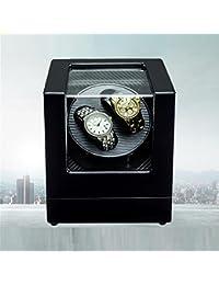AMYMGLL Rectángulo Mute automático doble reloj Winder con bloqueo Dual Watch reloj Rotator caja de almacenamiento