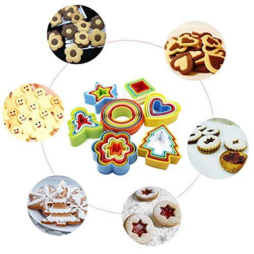 Hyack Baking Mould,36 PCS Cookies Mould Plastic Biscuit Cake Mousse Circle Vegetable Cutter Various Shape Mould
