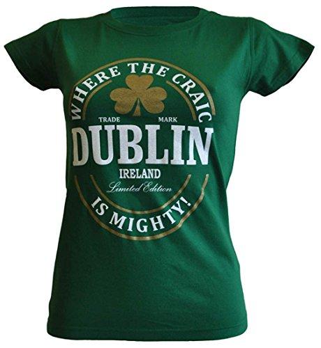 Figurbetontes Damen-T-Shirt mit Label-Aufdruck