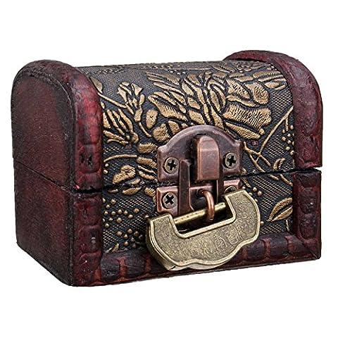 Jewelry Storage Charminer Vintage Style Wooden Storage Lock Box Treasure Jewellery Trinket Gift
