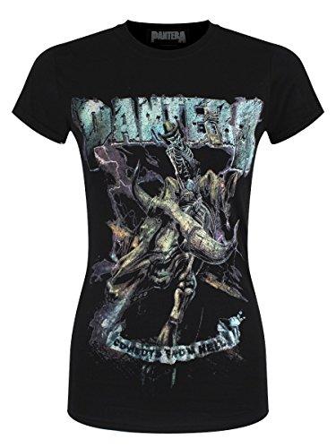 Pantera Music T-shirt (Pantera Damen T-Shirt Vintage Rider schwarz)