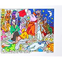 James Rizzi stampata litografia Stampa a colori liberty Leading The People 26 x 36 cm