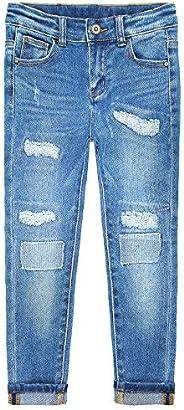 Kidscool Space Kids strappato alla moda elastico all'interno dei jeans ader