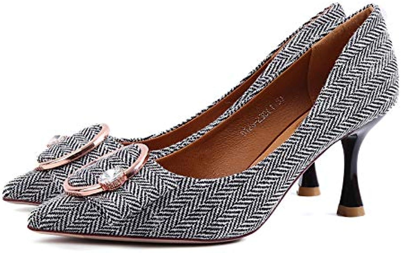 FLYRCX Chaussures Chaussures FLYRCX Pointues à la Mode en métal avec des Chaussures Sexy à Talon Aiguille Sexy Talon Aiguille Chaussures...B07JVBQR4GParent 162b20